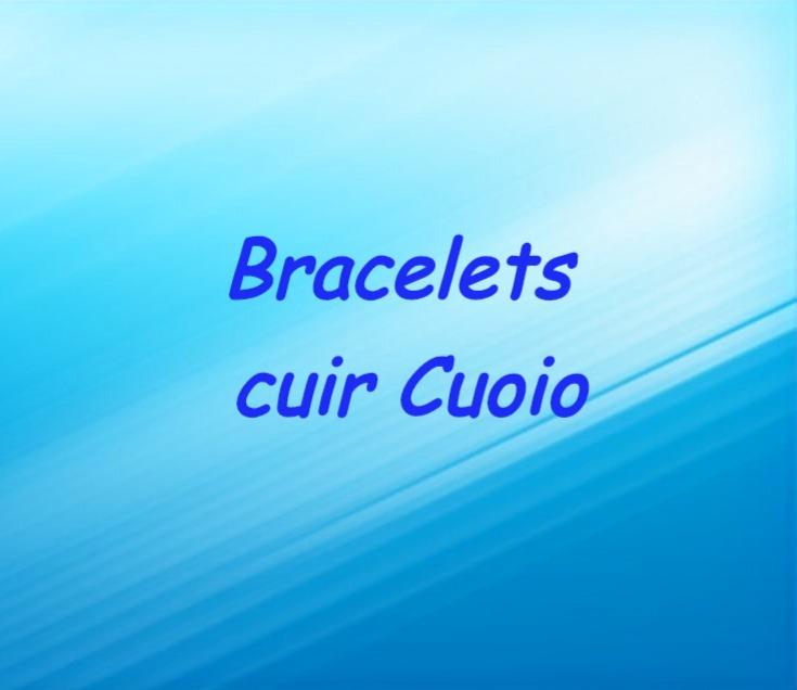 Bracelets cuir Cuoio