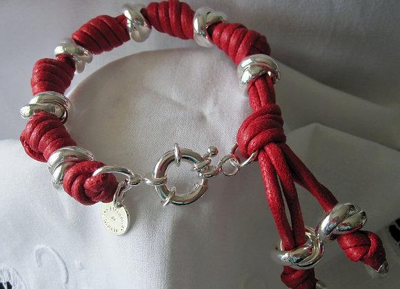 Bracelet corde fermoir boué