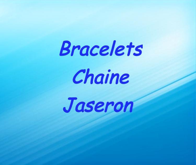 Bracelets chaine jaseron