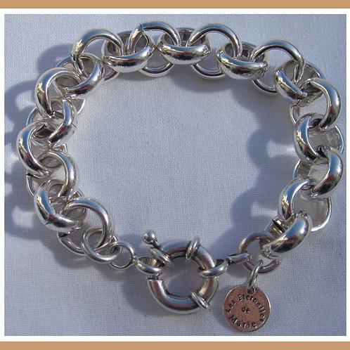 Bracelet maille Jaseron argent pl