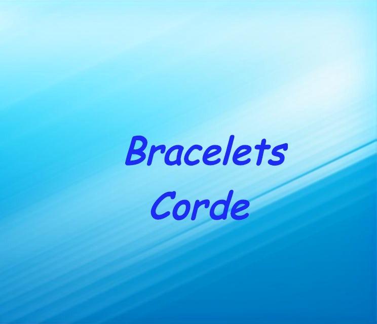 Bracelets Corde