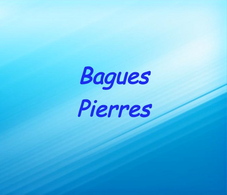 Bagues Pierres