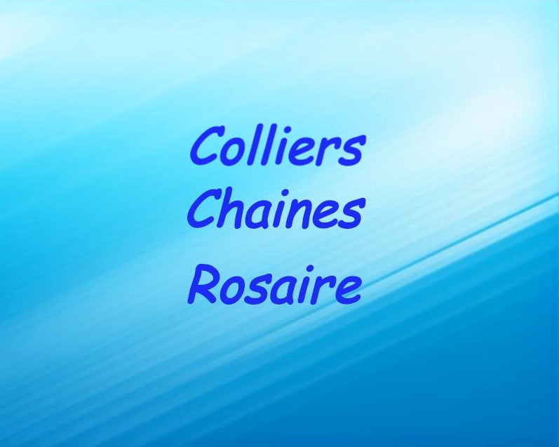 Colliers chaine rosaire