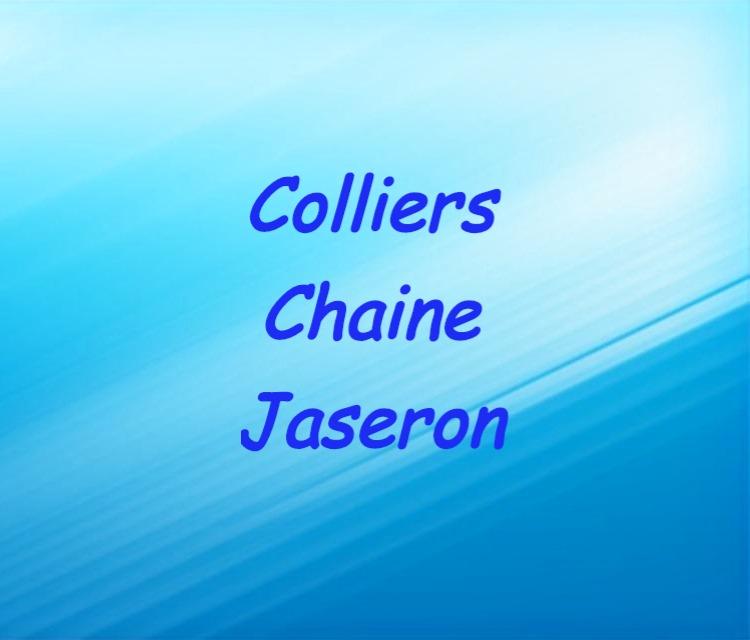 Colliers chaine jaseron