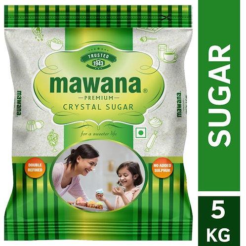 Mawana Premium Crystal Sulphurless Sugar 5 KG