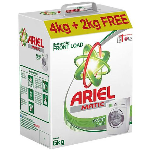 Ariel Matic Front Load Detergent Powder - Buy 4 kg Get 2 kg Free - Brand Offer