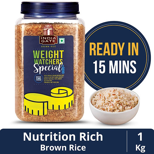 India gate weight watchers special 1kg brown rice (jar)