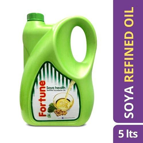 Fortune Soya Health Refined Soyabean Oil (Jar) 5 L