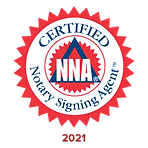 The National Notary Association NNA certified notary signing agent badge logo