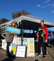Co-Chairs (Michaela left and Liz right) at a Sudbury Market in September 2018
