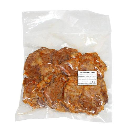 Печень жареная с луком (10 шт)