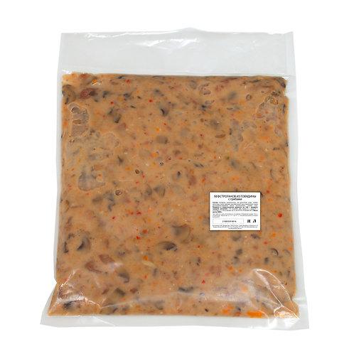 Бефстроганов из говядины с грибами (2 кг)