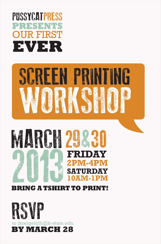 Workshop Poster 2013