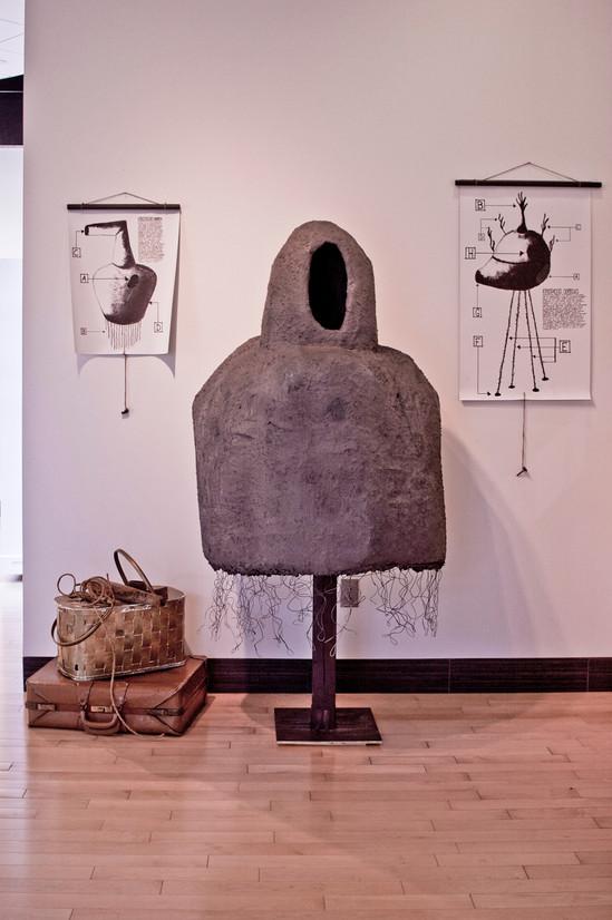 Installation at Rasmussen Gallery, Grand View University 2012