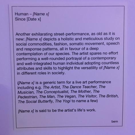 Human- [Name x]