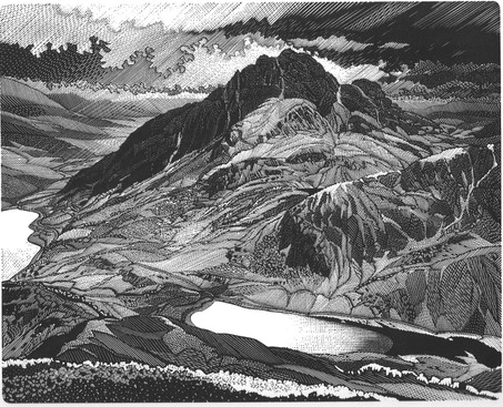 All around Tryfan  特瑞凡的乡野  200 x 250mm   £375 Edition size: 75