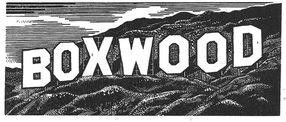 Monument to Thomas Bewick 托马斯·比维克的纪念碑  45 x 100mm   £80 Edition size: 50  A tribute to the British pioneer of wood engraving, and the tree of choice which engravers have used for over 200 years.  向英国木口木刻的先驱致敬。200多年来,木刻家们一直使用这种黄杨木料(Boxwood)。
