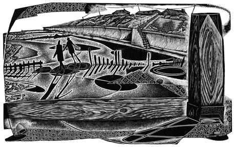 Daydreamers at Happisburgh (ii)  在黑斯堡的白日梦者 (二)  120 x 195mm   £195 Edition size: 20