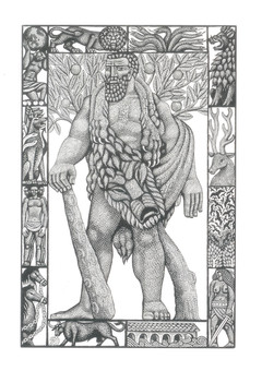 Hercules  大力神  153 x 102mm   £90 Edition size: 30