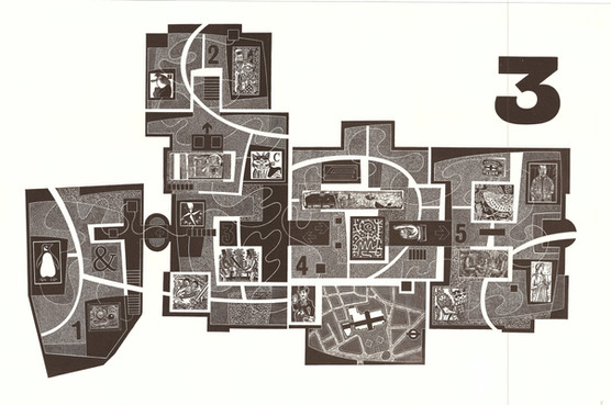Five for England: Plan of the National Gallery, Level 3  英国五项:国家美术馆第三层平面图  340 x 530mm   £325 Edition size: 35  This real floor plan is filled with some of my favourite people and artworks.  这张真实的平面图上有我最喜欢的艺术家和艺术品