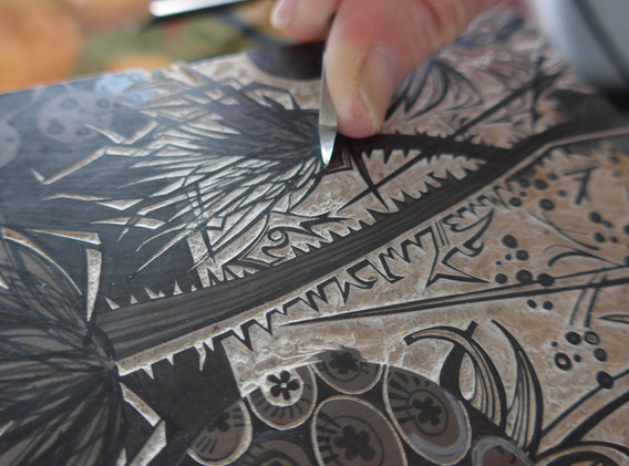 Angie_Lewin_cutting_block_for_Spanish_Se