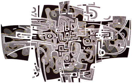 Dark Energy II  黑暗能量(二)  270 x 450mm   £325 Edition size: 15  Wood engraving with hand-colouring  手工上色的木口木刻版画