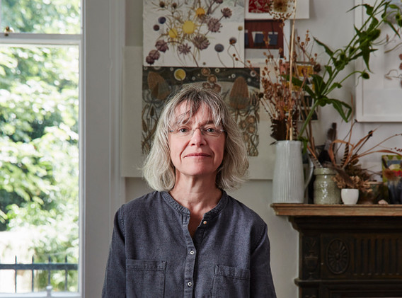 Angie Lewin studio portrait