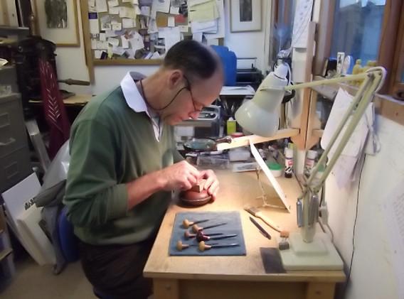 Harry Brockway - Engraving in my shed.jp
