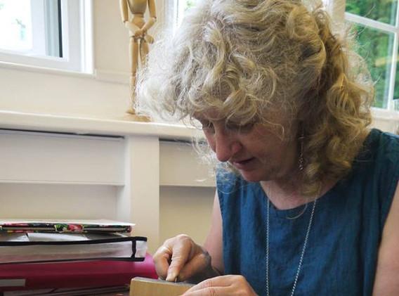 Sue Scullard Engraving a fern.jpg