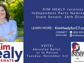 Kim Receives Independent Party Endorsement!