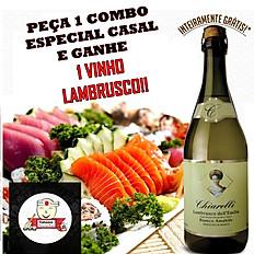 COMBO ESPECIAL CASAL + VINHO LAMBRUSCO