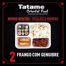 BENTÔ Nº 2-FRANGO COM GENGIBRE