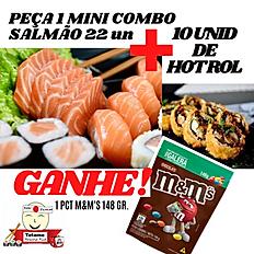 MINI COMBO SALMÃO + 10 UNID HOT ROLL