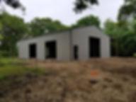 Pole barn made into a Barndominium. The Barn was built in Santa Fe Texas.