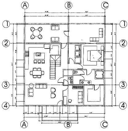45x45 Barndominium floor plan