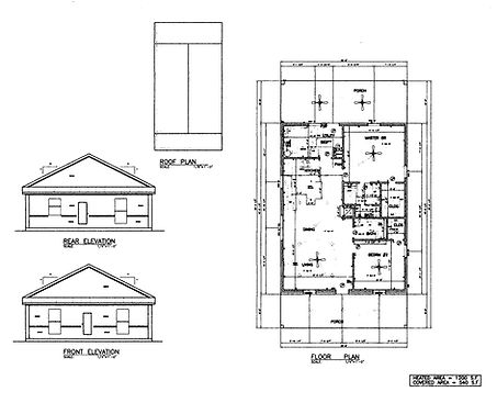 30x40 Barndominium flor plan 1200 sq f 2 bedroom 2 bath