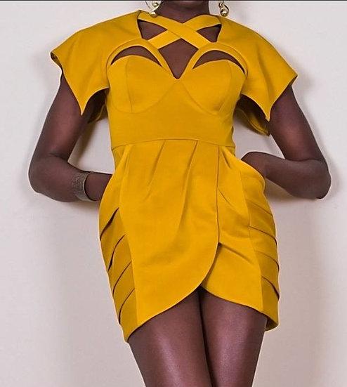 Desiree Gold Dress