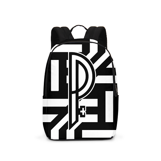 Perfect Population Signature Print Large Backpack