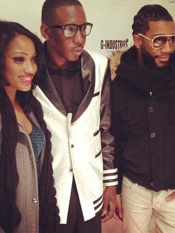 KL Allen with Erica Dixon and Celebrity Stylist Ryan Christopher