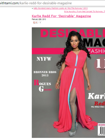 Karlie Redd Desirable Magazine