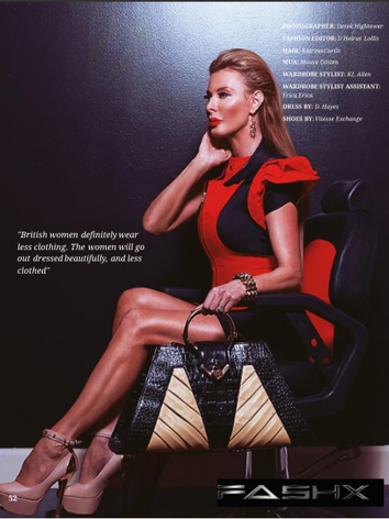 M Bag Featured in FashX Magazine on Kari Wells