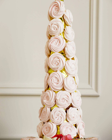 Indian Inspired Style Shoot Wedding Cake & Sweet Table - Meringue Tower