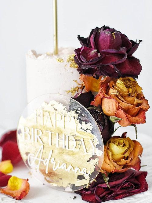 Floral Dressed Mini Cake