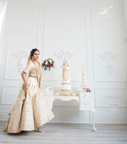 Indian Inspired Style Shoot Wedding Cake & Sweet Table