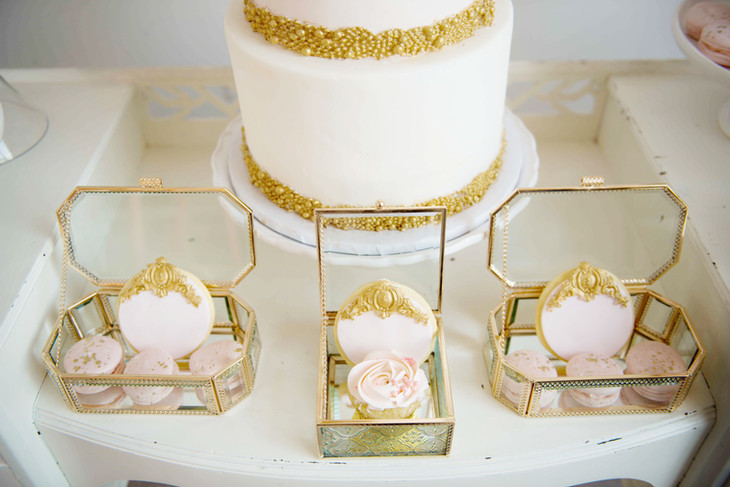 Indian Inspired Style Shoot Wedding Cake & Couture Sugar Cookies