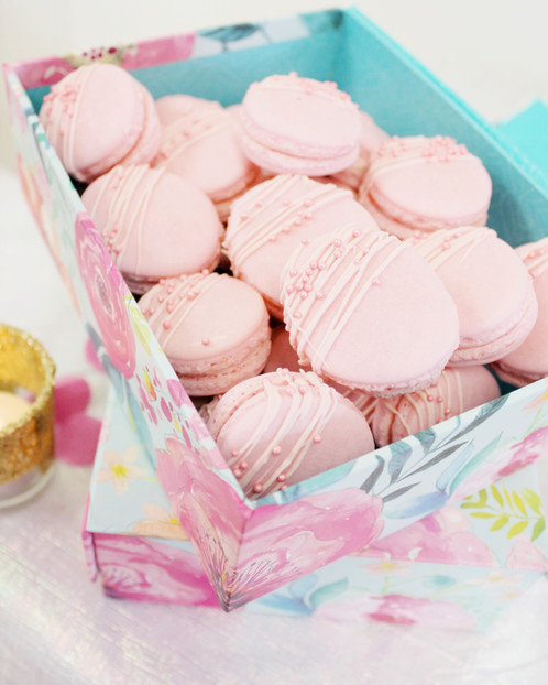 Veronica's Baby Shower Sweet Table - Pink Macarons