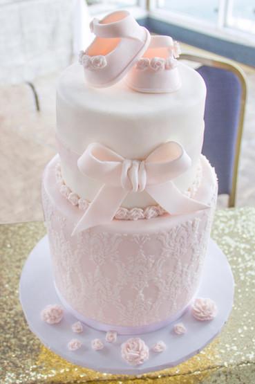 Pink Baby Girl Shower Cake