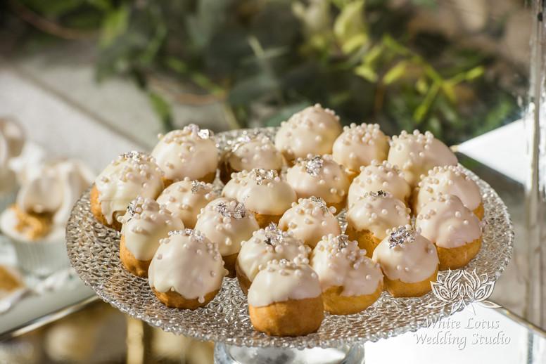 Elegant Wedding Magazine Feature Gardenia Style Shoot Wedding Cake & Sweet Table - Choux Pastry