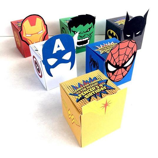 {superhero party boxes}⠀_Note_ Things yo