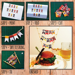 HOW TO MINI BUNTING
